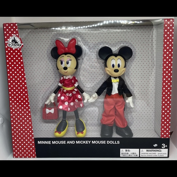 Disney Parks Minnie Mouse and Mickey Mouse Dolls